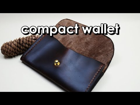 Making  a leather  compact wallet