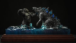 🦖 Godzilla vs. 🦍 Kong final battle / Diorama (NEW 2021)
