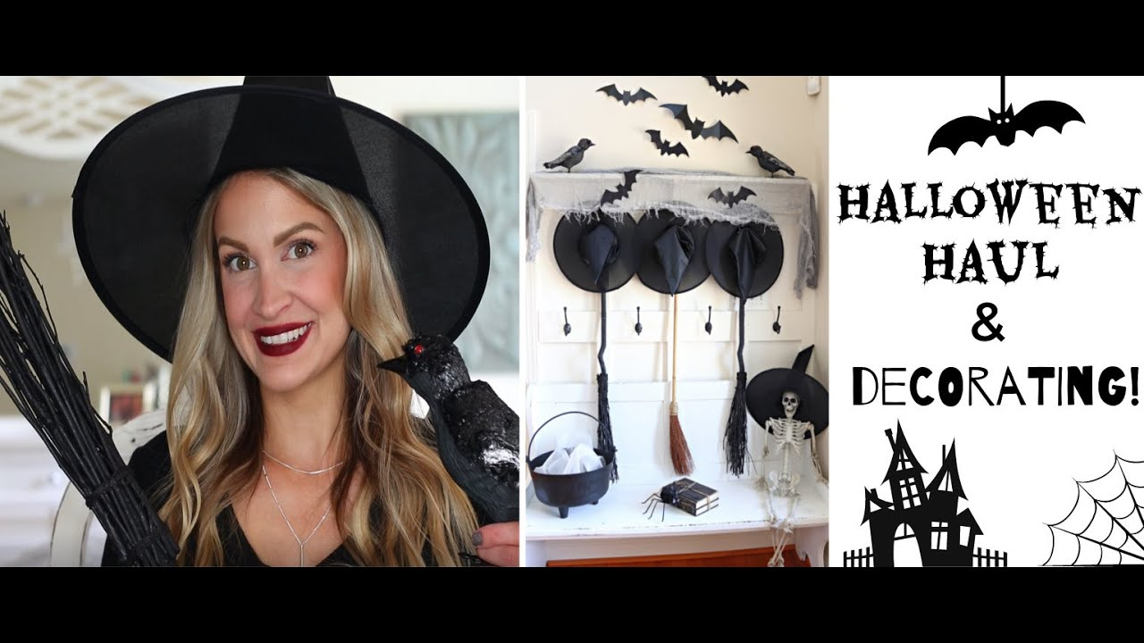 Halloween Decor Haul 🎃 Decorating our Entryway for under $100! 👻