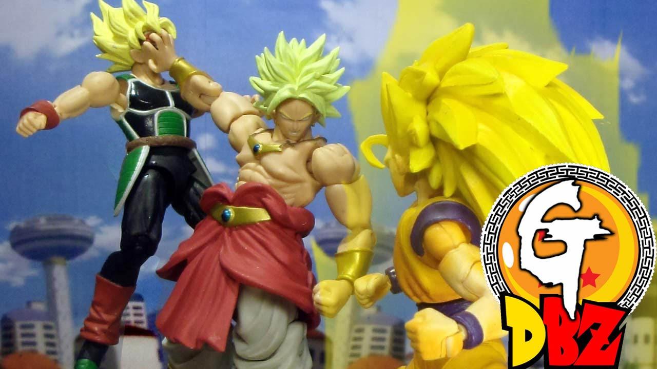 Dragon Ball Z-Son Goku & Bardock VS Broly Stop Motionドラゴン ...