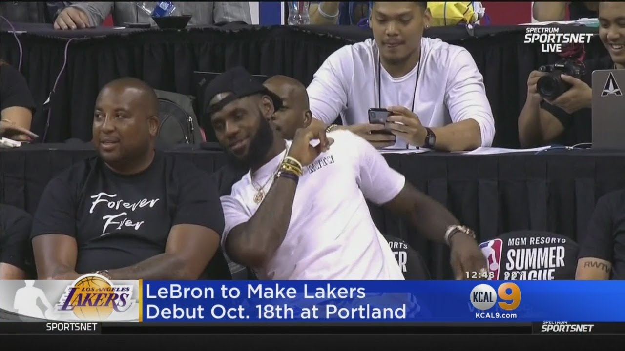 LeBron To Make Lakers Debut Oct. 18