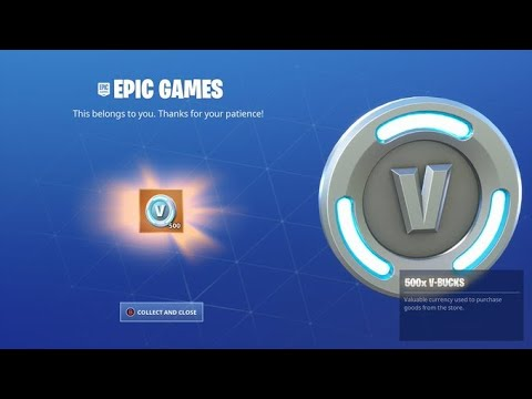 Download You May Be Eligible For a FREE 500 V-Bucks From Epic Games!