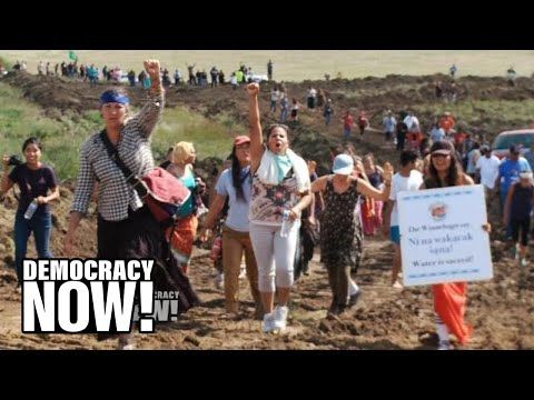 """Dakota Access Pipeline Company Attacks Native American Protesters with Dogs & Pepper Spray"""