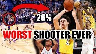 The WORST Shooter In NBA History Is... (Ft. Lonzo Ball, Charles Barkley, And A Lot Of Bricks)