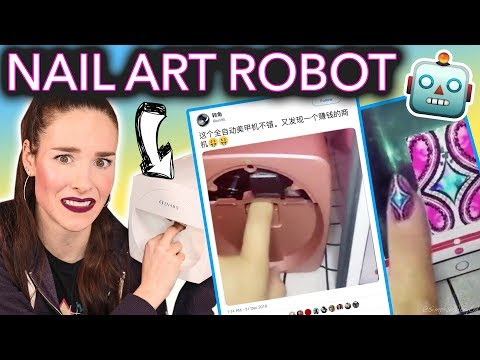 Testing the Nail Art Printing Robot (I'm being replaced)
