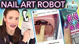 Testing the Nail Art Printing Robot (I