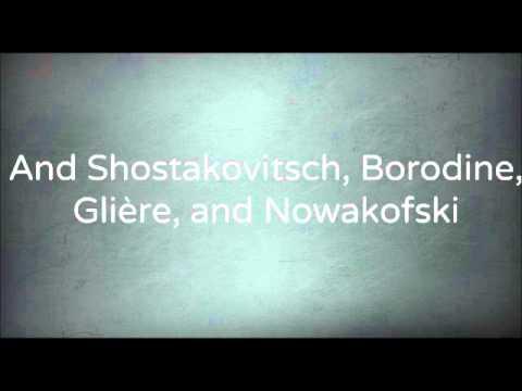Tchaikovsky by Danny Kaye - with lyrics