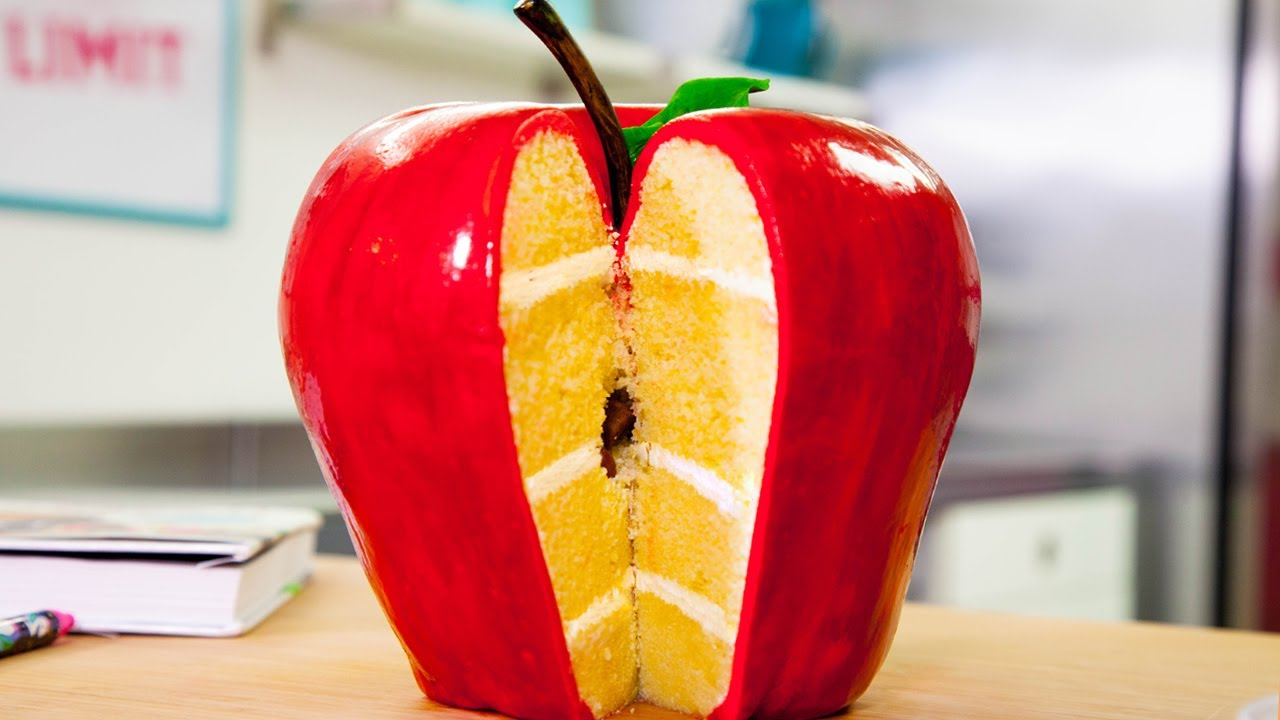 GIANT Apple Cake & More! | Back To School Cakes | How To Cake It with Yolanda Gampp