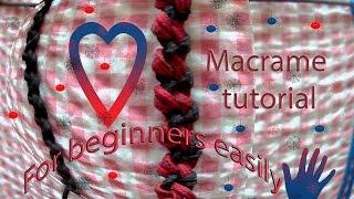Макраме уроки: плетение из петельных узлов, она же Ёлочка, Змейка, так же  узелковая цепочка(Цепочка в стиле Макраме, под названием Змейка, так же известна под названием Ёлочка или узелковая цепочка...., 2017-01-06T18:34:52.000Z)