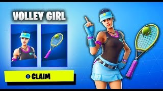 She got the Volley Girl skin for FREE in Fortnite...