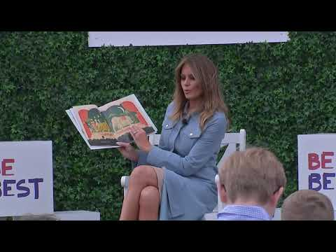 MELANIA TRUMP Reads To Children At 2019 Easter Egg Roll