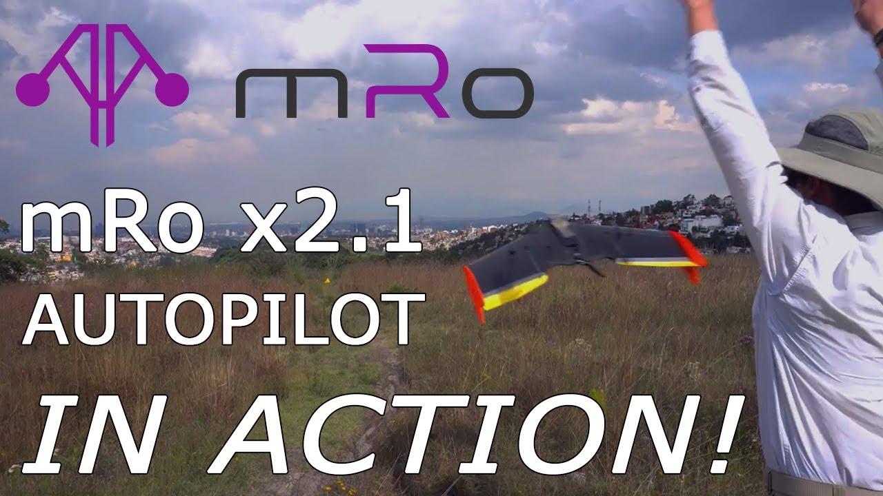 mRo x2 1 autopilot in a TBS Caipirinha 2 - MRobotics Inside