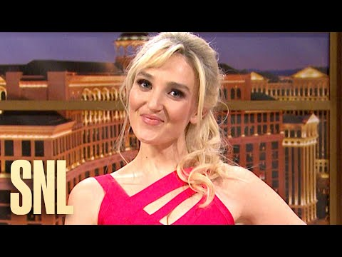 A talk show hosted by Britney Spears (Chloe Fineman) features guests Gov. Andrew Cuomo (Pete Davidson) and Texas Sen. Ted Cruz (Aidy Bryant) on SNL.