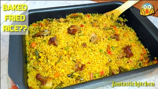 Fried rice baked in the oven! Very fast and easy to put together.