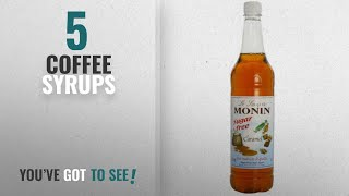 Top 10 Coffee Syrups [2018]: Monin Premium Caramel Sugar Free Syrup 1 L