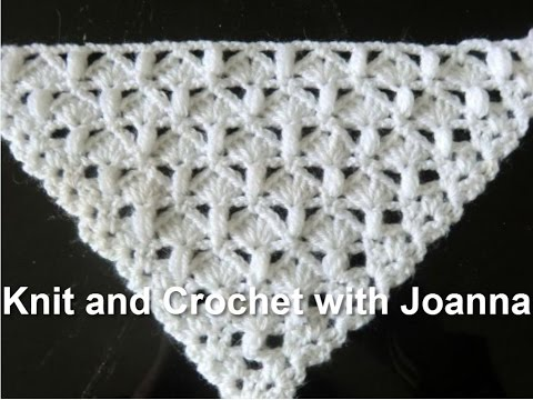 Crochet Pattern Easy Pattern For A Shawl With Shells And Puff