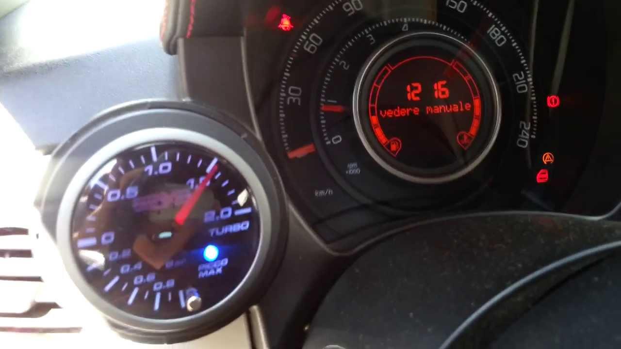 Manometro Pressione Turbo Con Picco Memoria Per Fiat 500