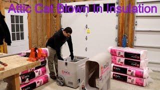 Owens Corning Attic Cat, blown in Insulation DIY!!!