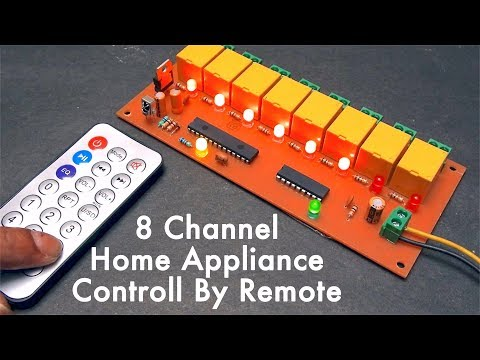 8 Channel Home Appliance Control Light, Fan By Remote