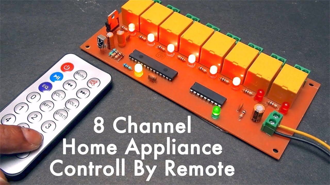 Remote Control Light Diagram Trusted Wiring And Cd4069 Measuringandtestcircuit Circuit Seekiccom 8 Channel Home Appliance Fan By Youtube Door Lock
