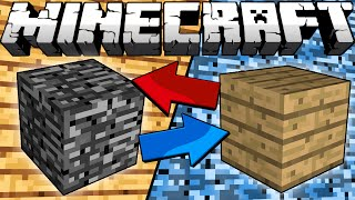 If Bedrock and Wood Switched Places - Minecraft