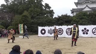 雨が降り始めたため合同短縮で。 秀家利踊な 名古屋おもてなし武将隊 三...