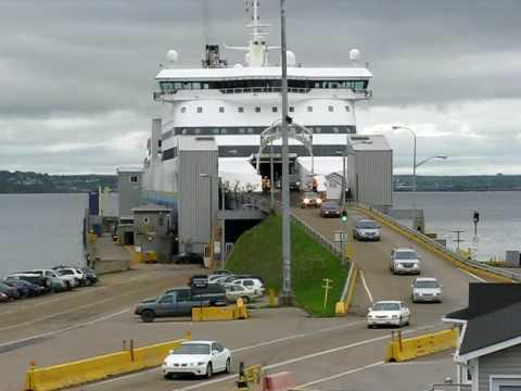 Cars exiting MV Atlantic Vision