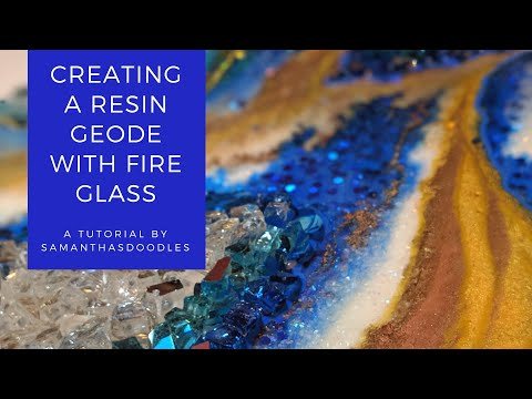 Creating a Resin Geode with Fire Glass by SamanthasDoodles