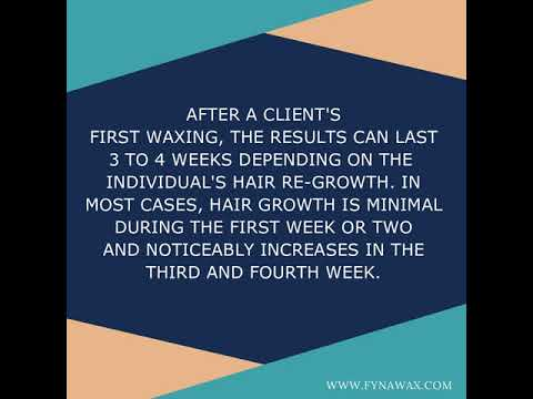how long does it take for hair to grow back after waxing