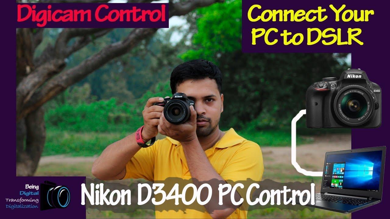 Connect Nikon D3400 to Computer | as external monitor| through Usb cable