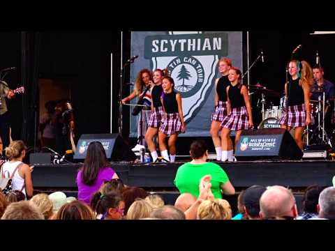 Scythian & the Trinity School of Irish Dancers at Milwaukee Irish Fest 2015