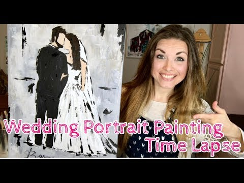 Wedding Portrait Painting Time Lapse | Acrylic painting time lapse | How to paint people