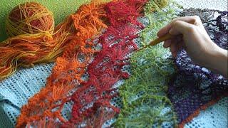 Турецкая шаль  из Кауни  крючком  часть 1 Turkish shawl (Шаль #6)