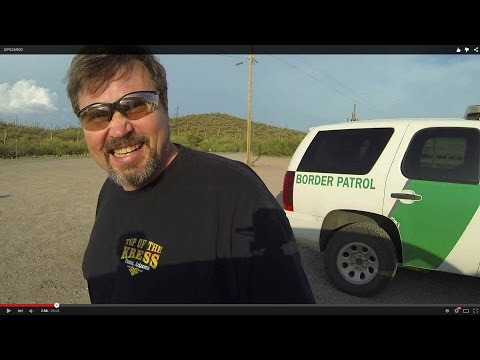U.S. Border Patrol Agent grills Motorist on Car Cameras Use, Gu Achi Trading Post, 14 July, GP026900