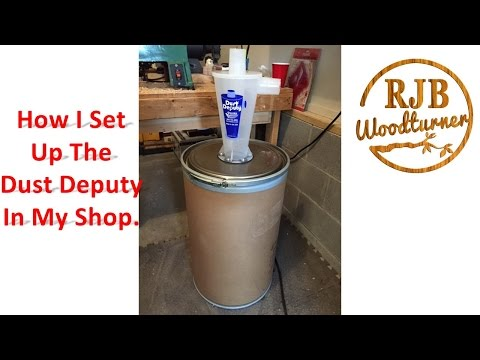 How I set up the Dust Deputy Separator in my shop