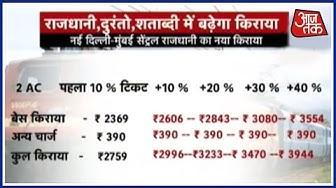 Surge Pricing In Rail Fare In Rajdhani, Duronto and Shatabdi