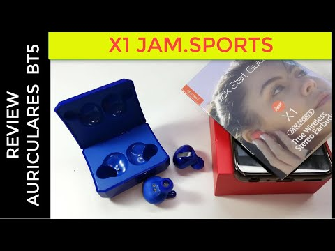 review auriculares inalámbricos TACTILES ULTIMA TECNOLOGIA bluetooth 5 , marca X1 JAM SPORTS IP65