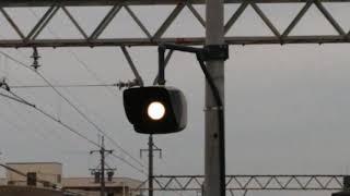平田町駅発車ブザー(前)機器更新と前寄りへ移設