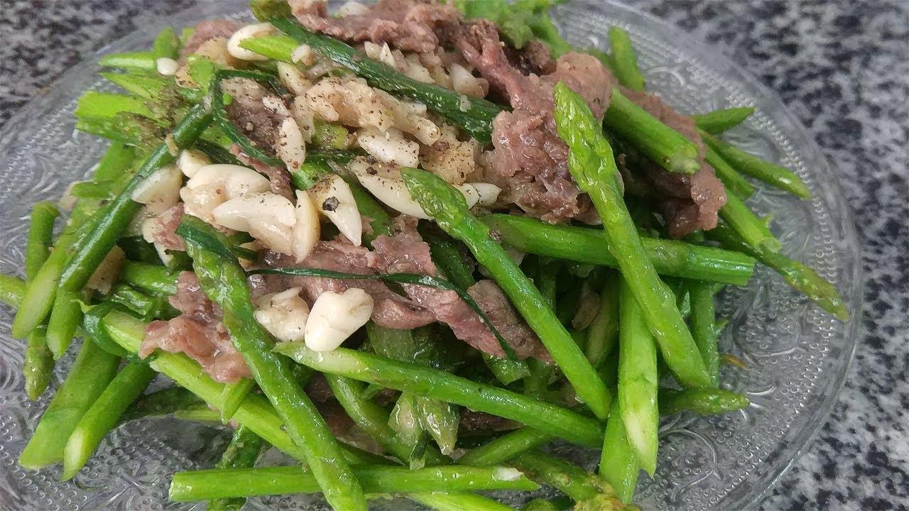 Măng tây xào thịt bò món ăn hoàn hảo đủ dinh dưỡng cho cả gia đình chưa hết 15 phút thực hiện
