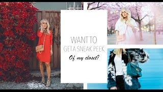 VLOG: WANT TO GET A SNEAK PEEK OF MY CLOSET?