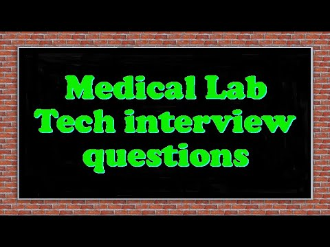 Remarkable Medical Laboratory Technology Test Questions On