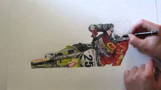 Drawing of Clement Desalle by Merle Kolbohm