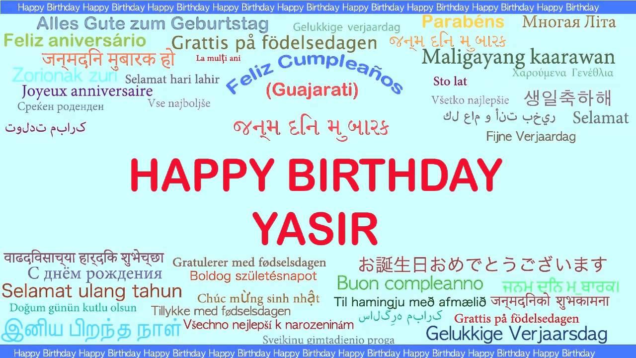 Yasir Languages Idiomas Happy Birthday Youtube