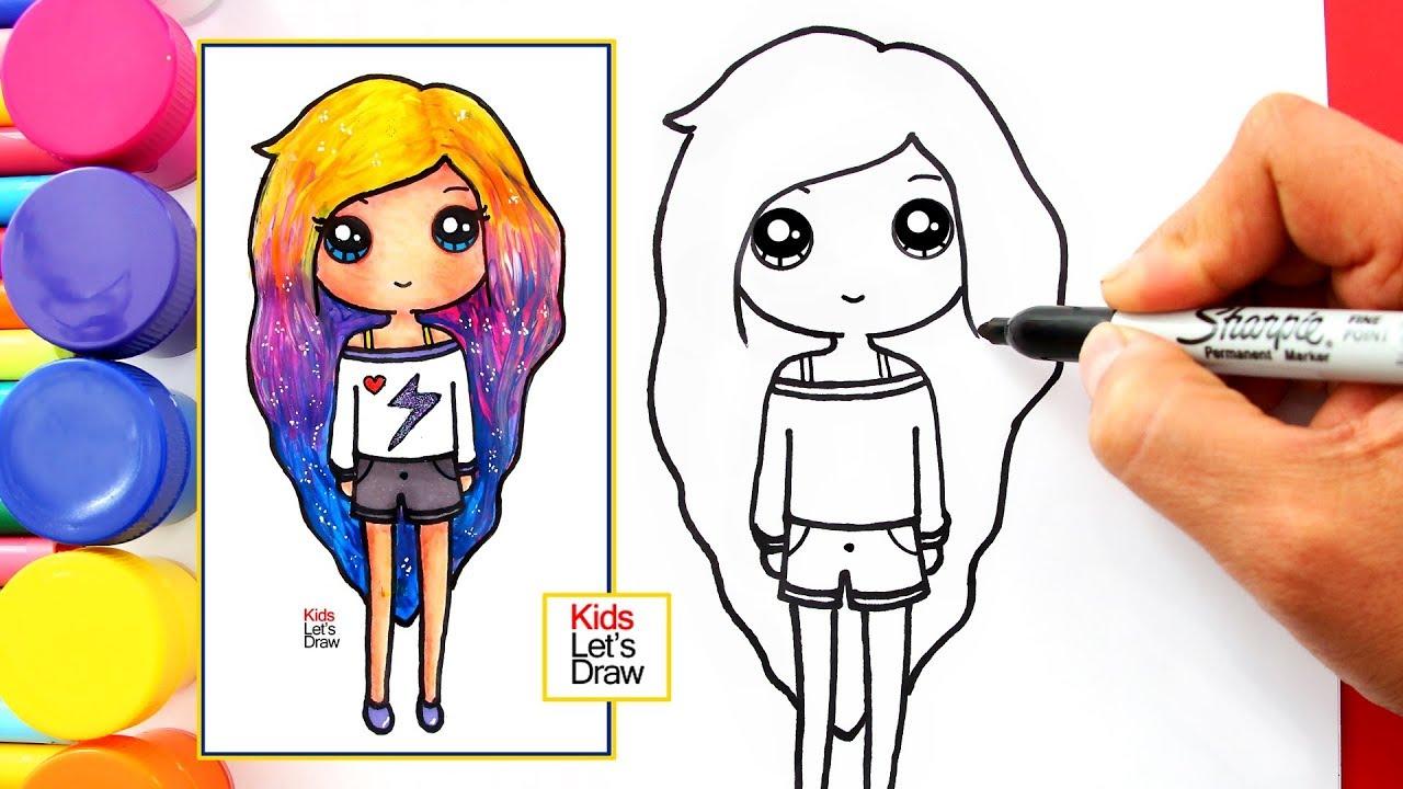 Aprende A Dibujar Y Pintar Una Muneca Tumblr Con Acuarelas