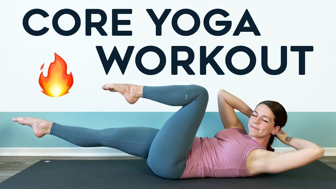 CORE YOGA WORKOUT - 10 min exercises for abs