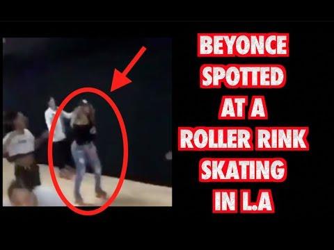 BEYONCE ROLLER SKATING IN LA (FULL VIDEO)