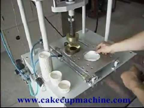 Semi Automatic Baking Cup Machine Youtube
