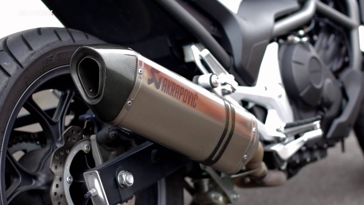 Honda NC700S with Akrapovic exhaust - YouTube