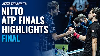 Dominic Thiem v Daniil Medvedev | Nitto ATP Finals 2020 Final Highlights!