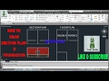 how to create building section plan in autocad ( HINDI )
